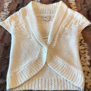 Shrug - Winter White with Capped Sleeves